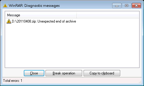 Unzip failed because the file downloaded in ASCII mode.