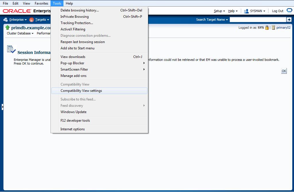 Internet Explorer - Compatibility View