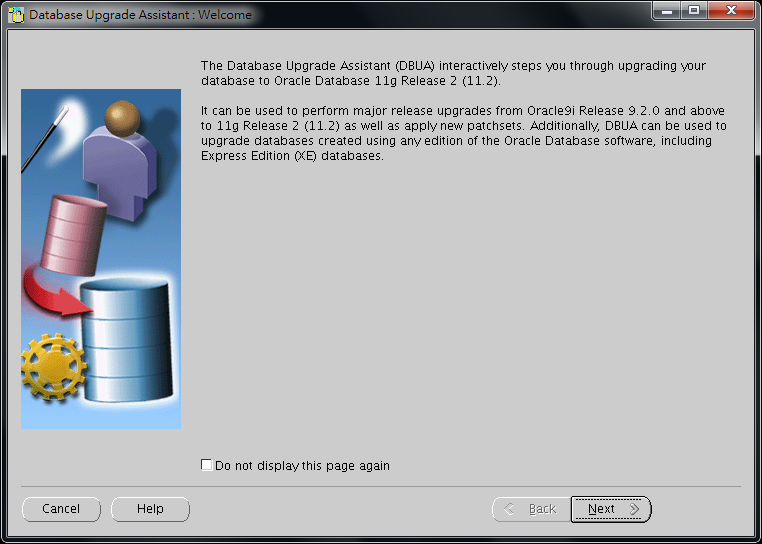 Oracle Database 11g DBUA - 01