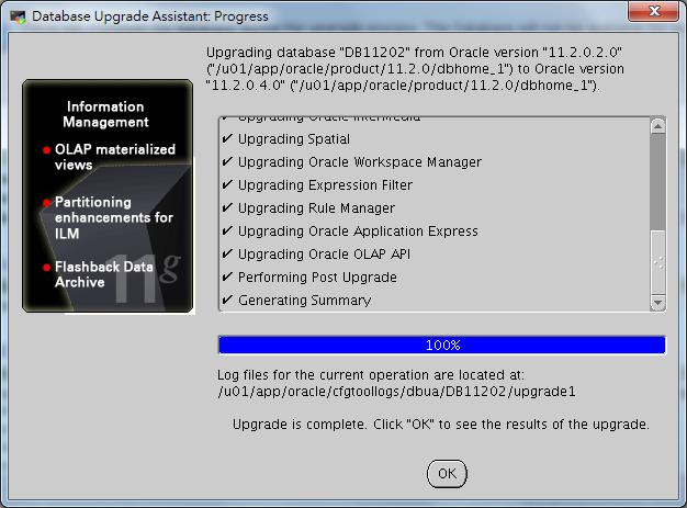 Oracle Database 11g DBUA - 09-3