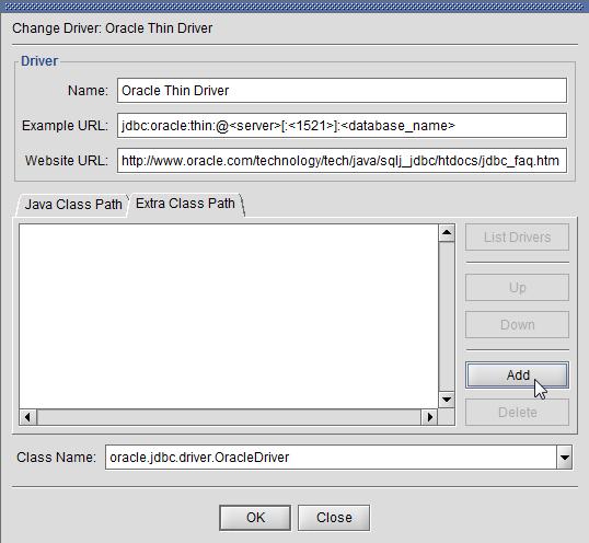 SQuirreL SQL Client - Add driver