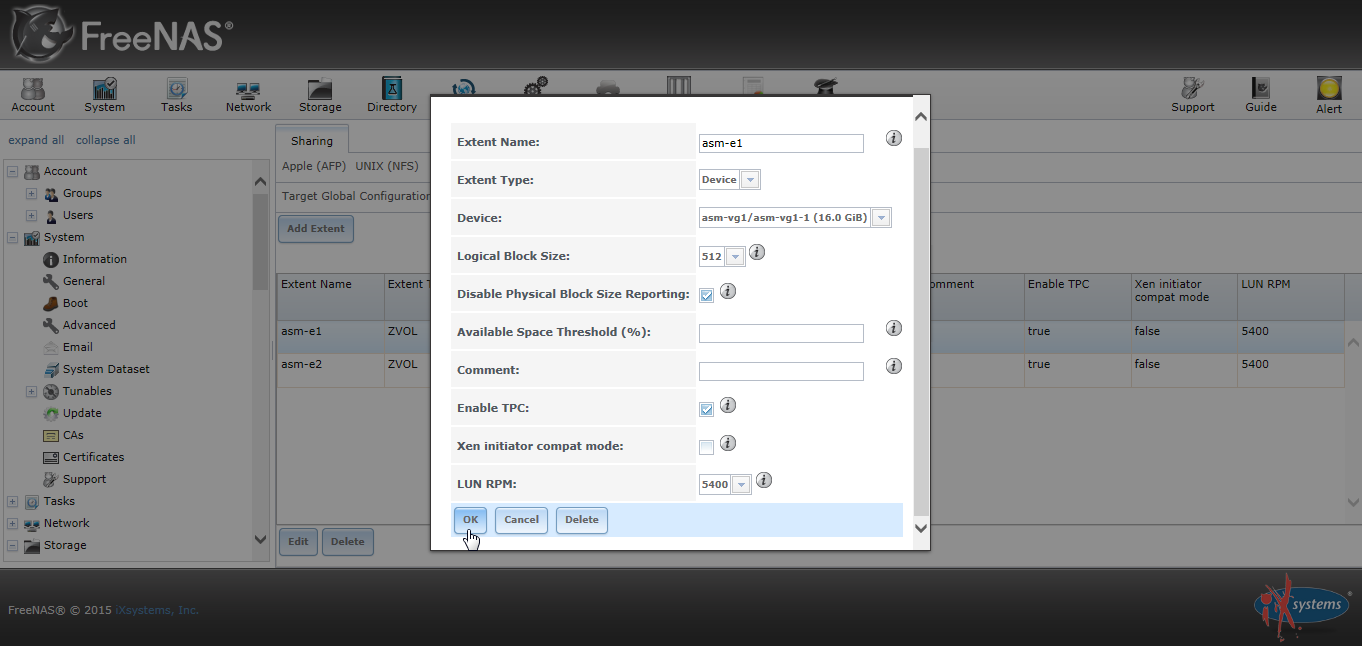 Freenas Disable Physical Block Size Reporting 02