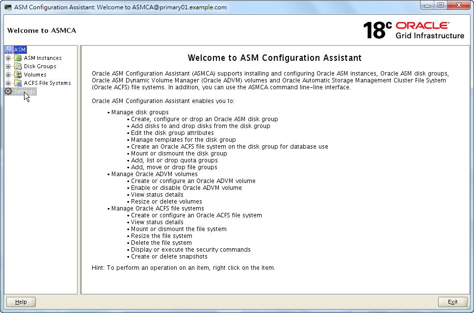 ASMCA 18c - Home Page