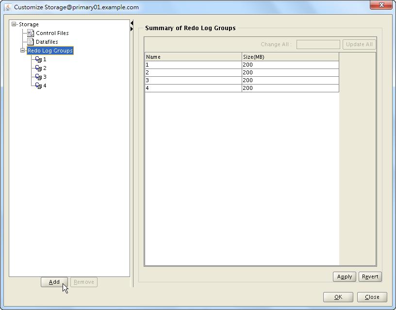 Oracle 18c DBCA - Create a RAC Database - Select Database Creation Option - Customize Storage Locations - Redo Log Groups