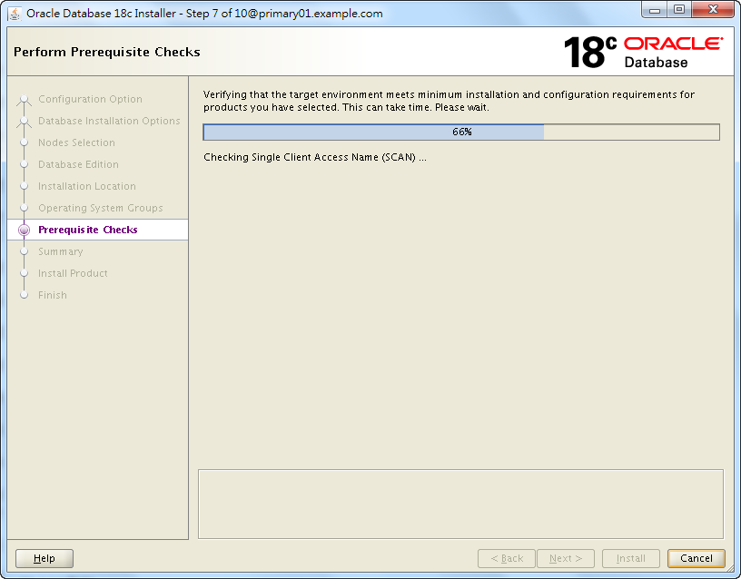 Oracle 18c RAC Software Installation - Perform Prerequisite Checks