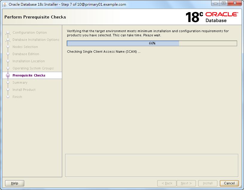 Oracle 18c RAC Software Installation - Perform Prerequisite Checks