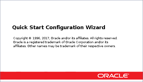 Oracle Fusion Middleware Configuration Wizard - Opening