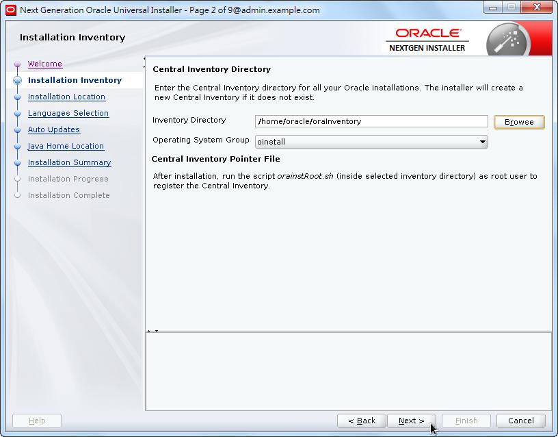 Weblogic New OPatch Installation - Installation Inventory