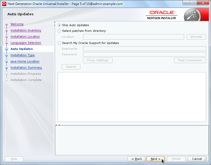 Weblogic New OPatch Installation - Auto Updates