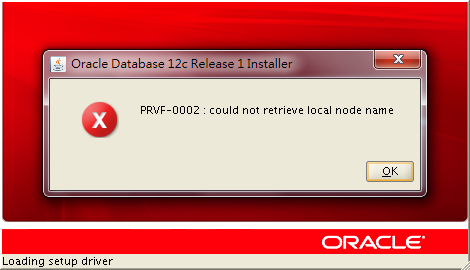 PRVF-0002: could not retrieve local node name