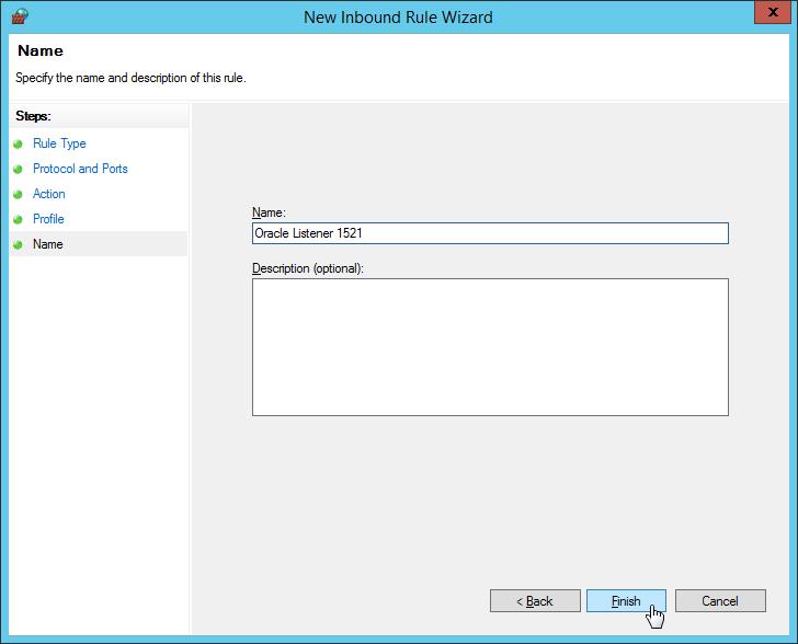 Windows Firewall - New Inbound Rule Wizard - Name