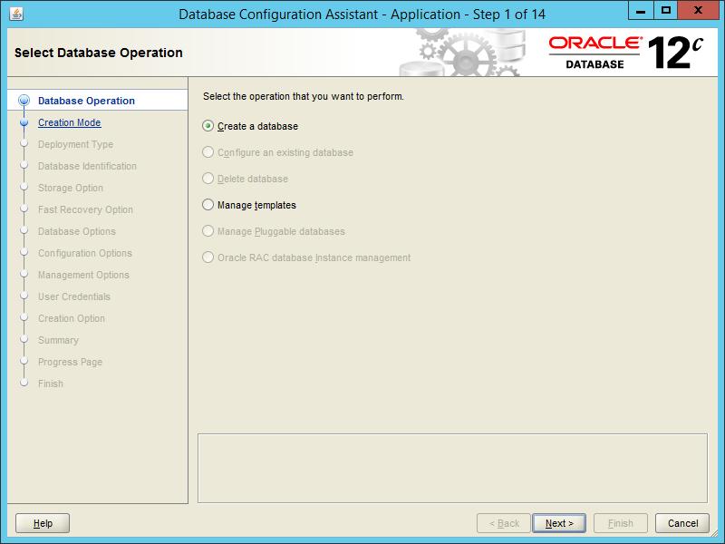 Oracle DBCA 12.2 - Step 01