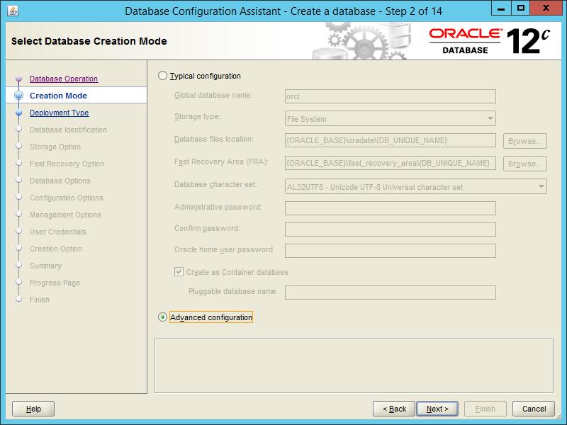 Oracle DBCA 12.2 - Step 02