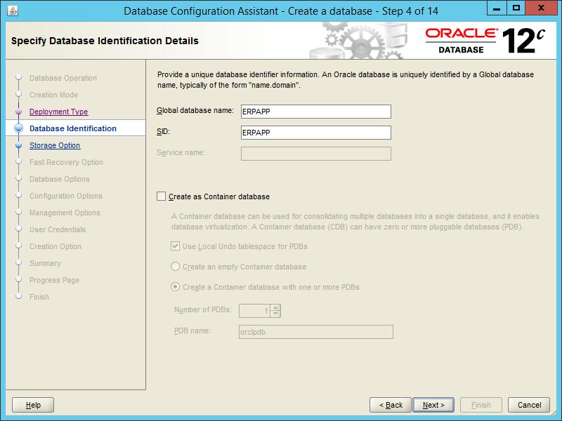 Oracle DBCA 12.2 - Step 04