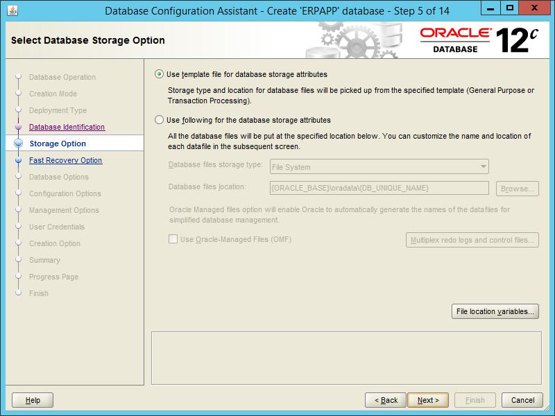 Oracle DBCA 12.2 - Step 05