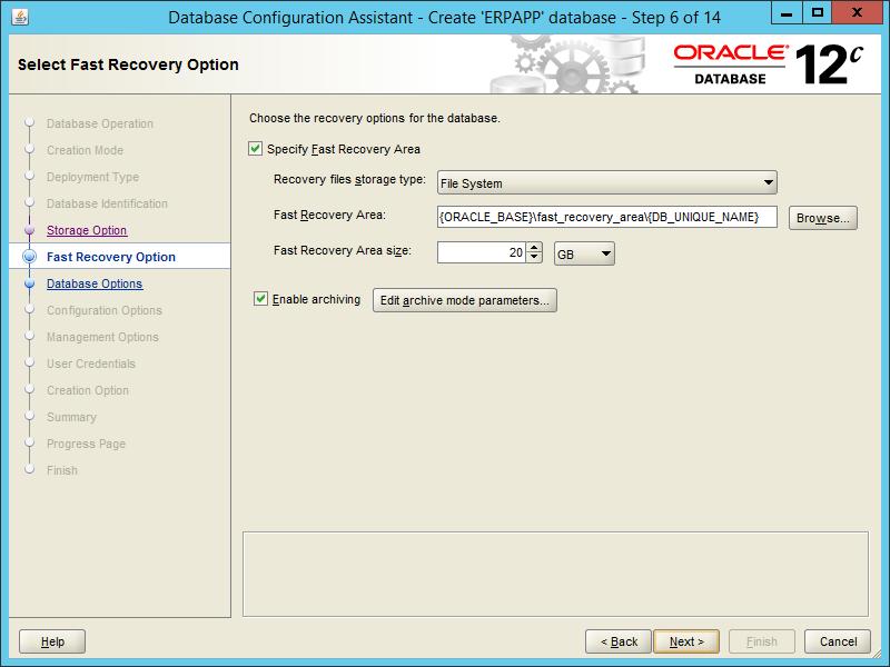 Oracle DBCA 12.2 - Step 06