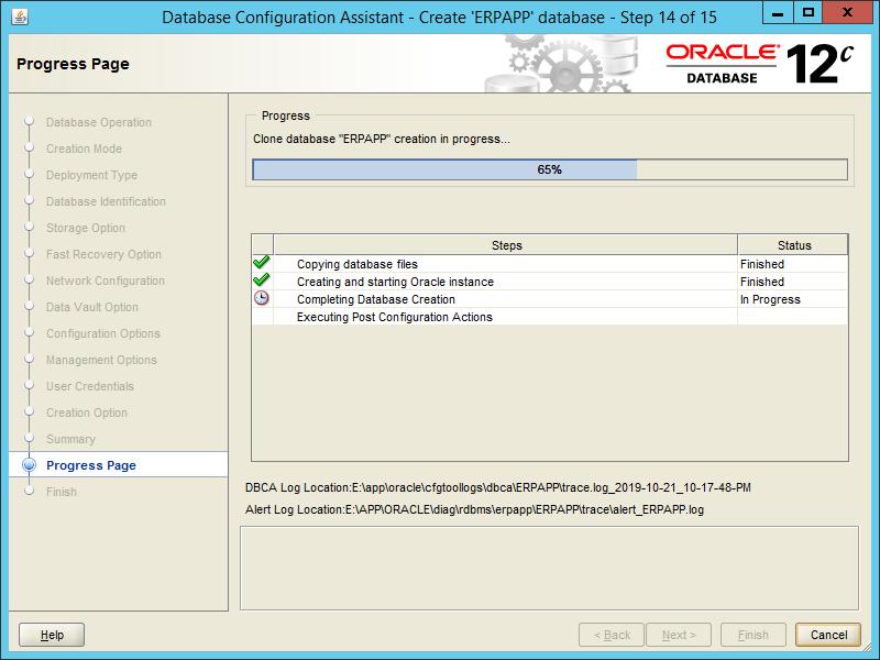 Oracle DBCA 12.2 - Step 14