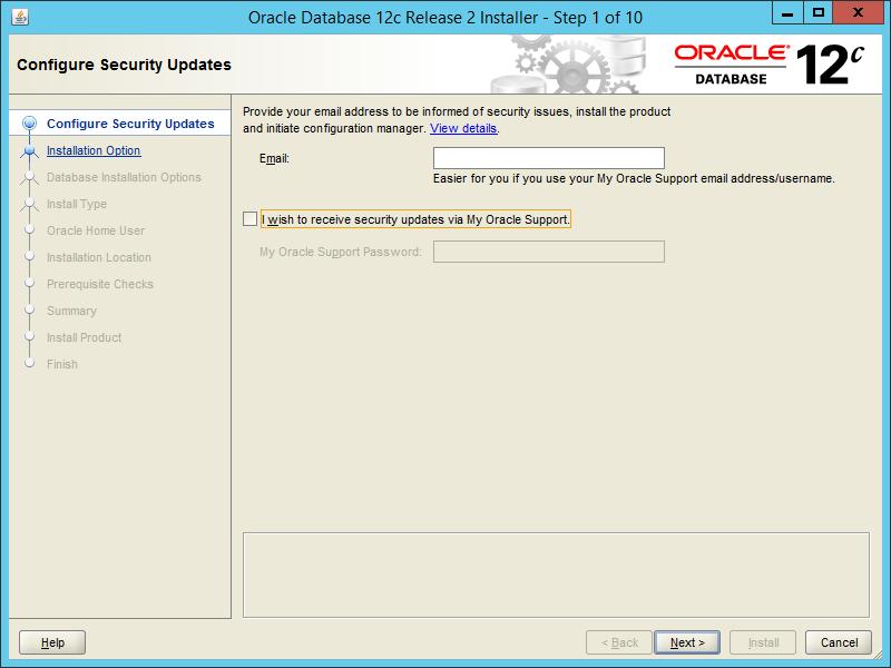 Oracle 12.2 OUI - Step 01
