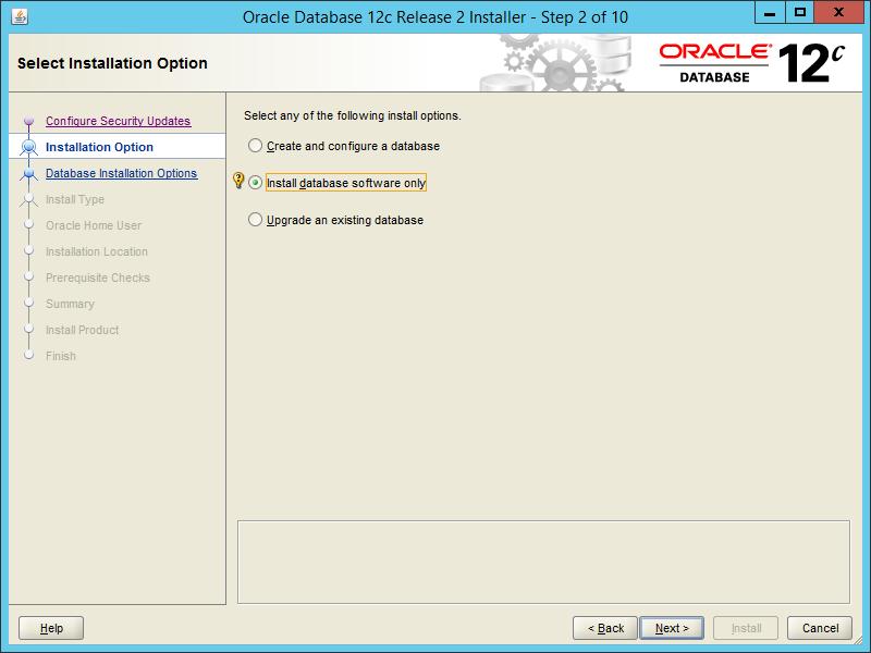Oracle 12.2 OUI - Step 02
