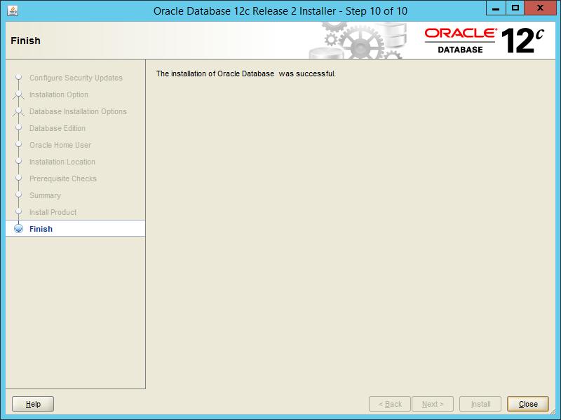 Oracle 12.2 OUI - Step 10