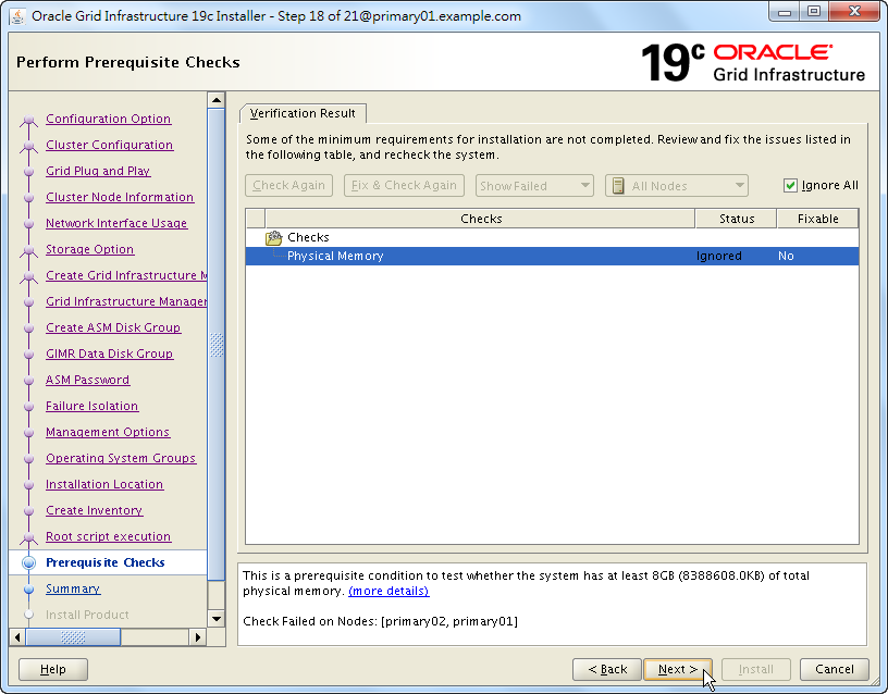 Oracle 19c Grid Infrastructure Installation - 18 - 02