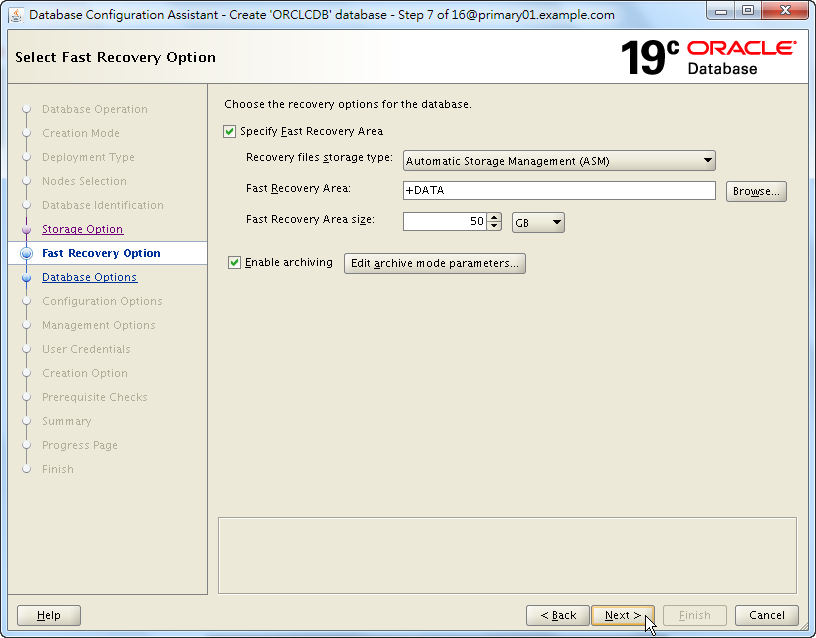 Oracle 19c Database Creation by DBCA - 07