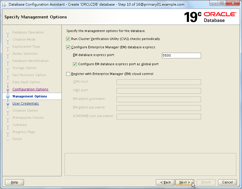 Oracle 19c Database Creation by DBCA - 10