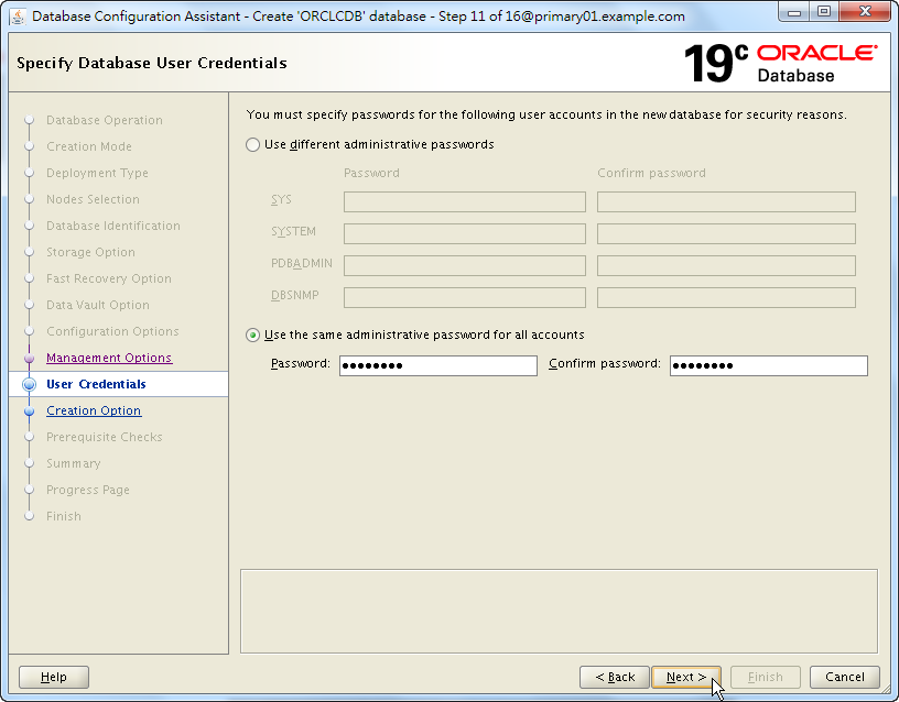 Oracle 19c Database Creation by DBCA - 11