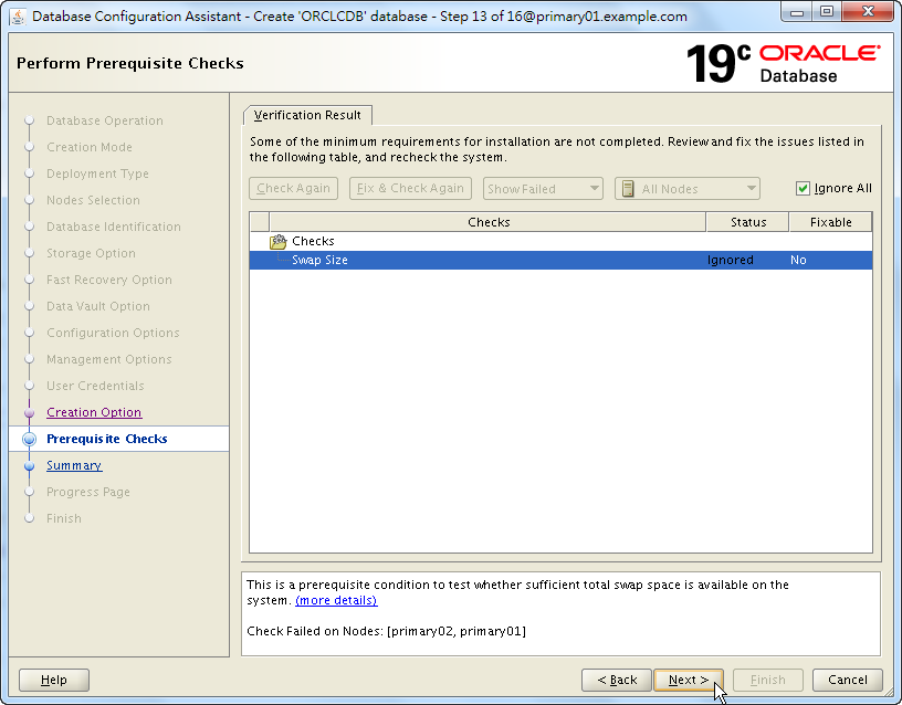 Oracle 19c Database Creation by DBCA - 13 - 02