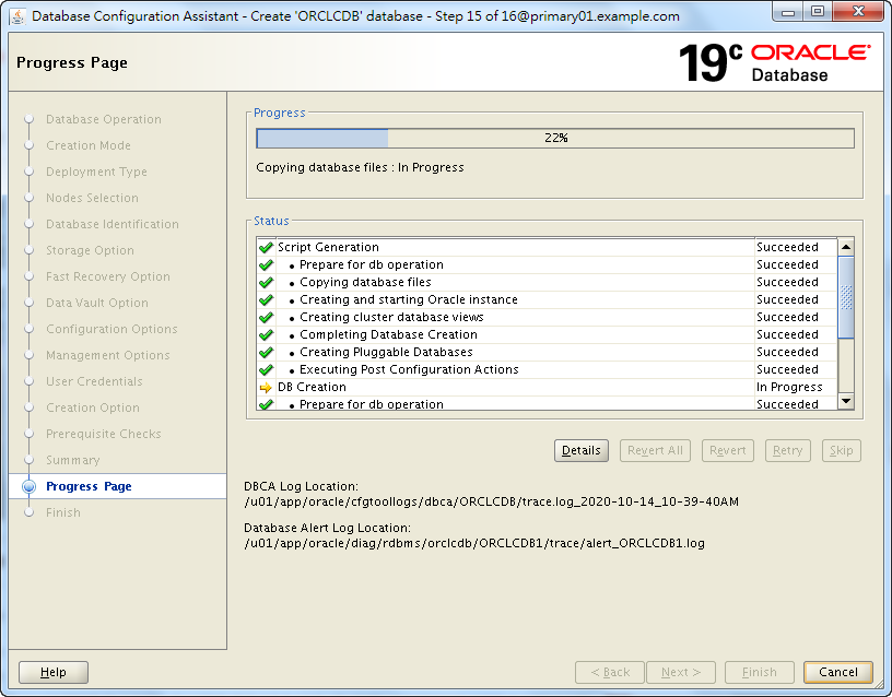 Oracle 19c Database Creation by DBCA - 15 - 01